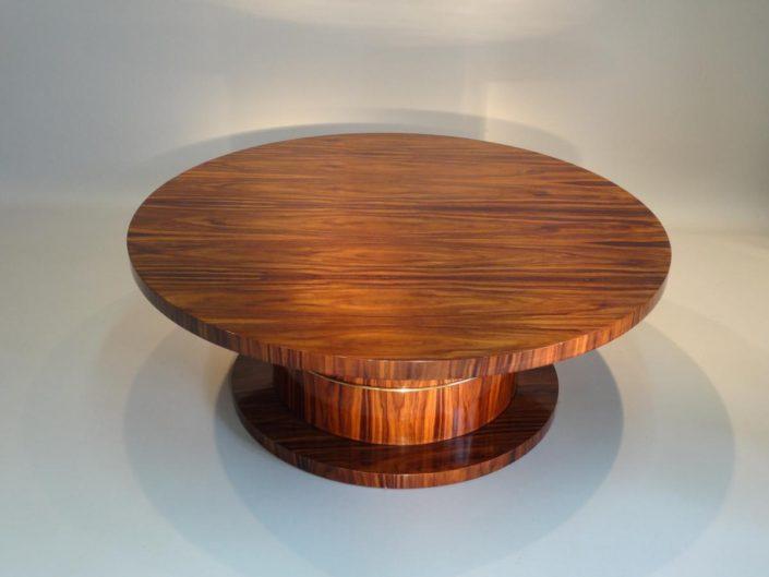 table basse ronde en palissandre