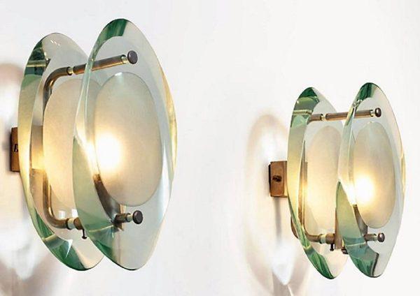 Paire d'Appliques Micro Max Ingrand Pour Fontana Arte 1961, Mod. 2093